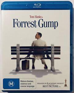 Forrest Gump Tom Hanks (Blu-Ray) VGC Rated M Region B Aus Movie 🍿 Classic