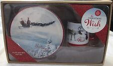 Demdaco THE CHRISTMAS WISH PLATE and MUG Snack Set