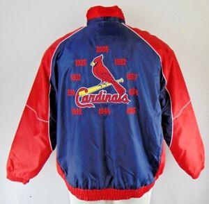 St. Louis Cardinals Men 10 Time World Series Champions Winter Jacket MLB Red 2XL