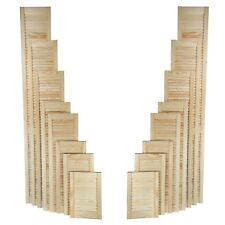Natural Clear Pine Wood Door, Open Louvre Door, Wardrobe, Cupboard Door, Slatted