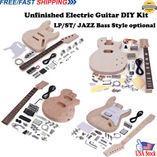 Beginner DIY Electric Guitar Kit ST LP Style 4/6 Strings 1 Set w/ Full Accessory