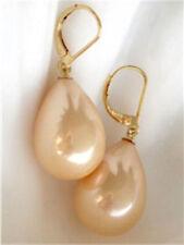 New 12x16mm Sea Shell Pearl Drop Earrings AAA+