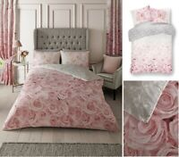 Luxurious BelleRose Flower Modern Style Duvet Cover Sets Reversible Bedding Sets