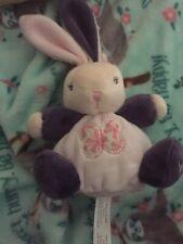 "Kaloo VELOUR BUNNY RABBIT Plush Stuffed Baby Toy  4"""