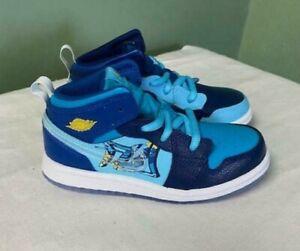 Nike Air Jordan 1 Mid Fly Blue Void/Royal Toddler Shoes BV8175-056 Size 10C