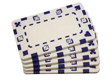 5 pcs White Rectangular Poker Chips Plaques
