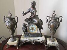 Collaboration 1860's Masters Auguste Moreau and Samuel Marti - Fine Art & Clock