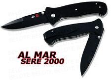 Al Mar SERE 2000 BLACK Tactical Folder Plain Edge S2KB