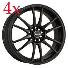 Drag Wheels DR-38 17x8 5x100 5x114 et35 Flat Black Rim For Kia Lancer Celica Rsx