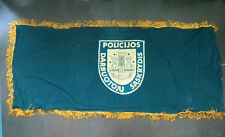Big Lithuania Police Flag Banner Gold Fringed Army Military Lithuanian