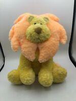 Russ Berrie Baby Leon The Lion Rattle Plush Kids Soft Stuffed Toy Animal Yellow