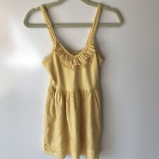 Ladies NWT Altar'd State  yellow cotton sun dress size small