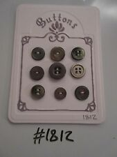 #1812 Lot of 9 Grey Buttons