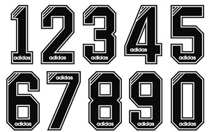 Felt 1990's Football Shirt Soccer Numbers Heat Print Football Vintage Premier C