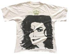 Getragen Selten !! 1992 MICHAEL JACKSON King of Pop Picture T-Shirt M Unisex