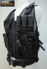 Kombat Black Tactical VEST Assault Airsoft Paintball Molle Attachment Rig Mag
