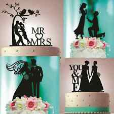 PERSONALIZED CUSTOM WEDDING CAKE TOPPER LASER CUT BLACK SILHOUETTE GIFT