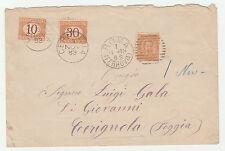 STORIA POSTALE 1883 REGNO C.20+T.10/30 SU BUSTA ROMA 1/11 Z/2237