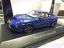PORSCHE 911 991 Carrera 4 GTS Coupe 2014 blue blau met Schuco 1/1000 SP 1:43