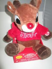 """Rudolph, the Red-Nosed Reindeer: """"Huggie Hugs Rudolph"""" Plush Plushie"""