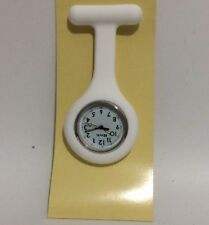 Ravel Ladies White Silicone Nurse Beautician Nurses Fob Watch Guarantee 1103.1