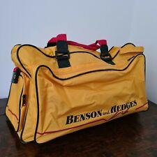 More details for vintage benson & hedges yellow sports bag retro tennis kit bag retro holdall
