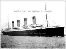 Photo Titanic Underway: Premium Starboard Bow Angle - April 10, 1912