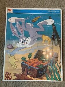 Whitman Bugs Bunny Frame Tray Puzzle Kids Leisure Teaching Toy Cartoon 1972 Vtg
