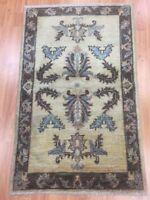 "2' x 3'3"" New Pakistani Peshawar Oriental Rug - Hand Made - 100% Wool - Veg Dye"