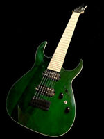 NEW CUSTOM 7 STRING TRAMS GREEN WOOD GRAIN FINISH ELECTRIC GUITAR-AMAZING TONE