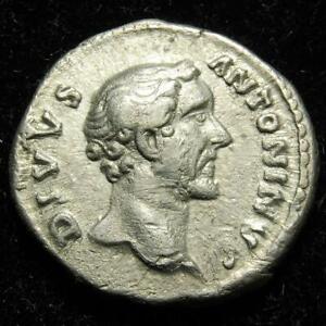 Divus Antoninus Pius AR denarius CONSECRATIO, eagle, Rome 161AD - RIC 431