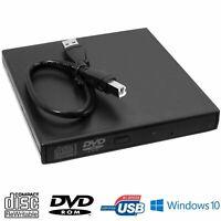 USB 2.0 EXTERNAL DVD ROM CD RW DRIVE REWRITER BURNER WRITER PLAYER LAPTOP PC