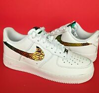 Custom Nike Air Force 1 Size 13 Men Python Color Changing Chrome Fabric