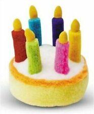 Multipet Plush 5.5-Inch Musical Birthday Cake Dog Toy