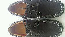 Boys Boat Slip On Deck Shoes Moc Loafers Size 7Y Black Lil Fellas
