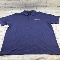 Pepsi Men's XL Polo Shirt Purple Blue