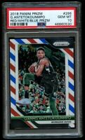 2018-19 Panini Prizm Giannis Antetokounmpo Red White Blue #296 PSA 10 Gem Mint