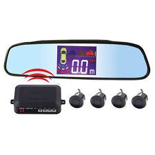Wireless Car LCD Display 4 Parking Sensors Rear View Reverse Backup Radar System