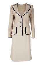 *ANDRE LAUG* WOMEN'S VINTAGE HAUTE COUTURE CREAM AND BLACK SKIRT SUIT 4001