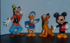 Cute Disney Figures - Mickey Mouse, Goofy, Donald Duck, Pluto - Loose