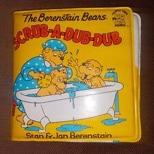 The Berenstain Bears scrub-a-dub-dub bath book 1996 vintage clean pre-owned
