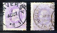 BELGIUM 1870 - 1F SG56 Shades Used NB3066