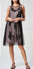 Next Black Embellished Mesh Dress (PETITE) Size 10 BNWT RRP £85