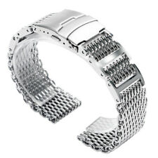 22mm Watchband 316L Stainless Steel Watch Band Shark Mesh Mens Watch Strap