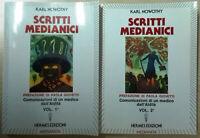 Scritti medianici Vol.1 + Vol. 2 di Karl Nowotny Medianità Libro Come Nuovo N