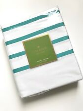 NEW Kate Spade New York Harbour Stripe Shower Curtain Teal White 72 X 59