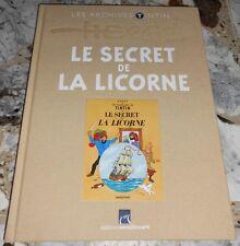 Archives TINTIN ET MILOU, LE SECRET DE LA LICORNE Éd. Moulinsart, reliure tissu