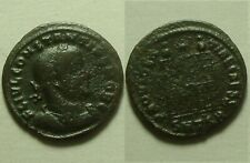 Constantius II camp-gate star Thessalonica mint/Rare ancient Roman coin/326AD