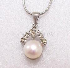 Versilberte Modeschmuck-Halsketten mit Perle