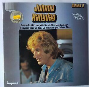 """JOHNNY HALLYDAY 9 - LP EXCELLENT ETAT ! ♦ DISQUE D'OR """"IMPACT"""" - GABRIELLE"""